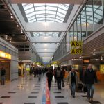 Intérieur de l'aéroport Dusseldorf
