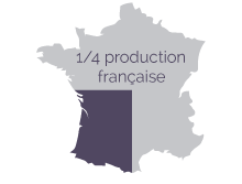Représentation de la production de granit en France
